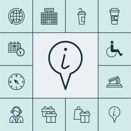 paralyzed: Set Of Airport Icons On Accessibility, Operator And World Topics. Editable Vector Illustration. Includes Paralyzed, Card, Building And More Vector Icons. Illustration