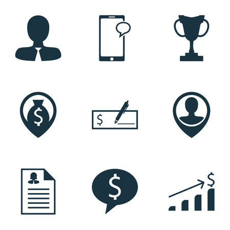 sms payment: Set Of Human Resources Icons On Messaging, Employee Location And Female Application Topics. Editable Vector Illustration. Includes Opinion, Check, Female And More Vector Icons. Illustration