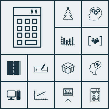 dynamic growth: Set Of 12 Universal Editable Icons. Can Be Used For Web, Mobile And App Design. Includes Icons Such As Open Cardboard, Photo Camera, Brain Process And More.