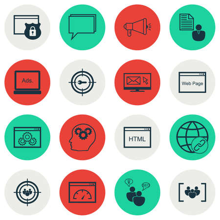 keyword research: Set Of SEO Icons On Keyword Marketing, Connectivity And Questionnaire Topics. Editable Vector Illustration. Includes Research, Keyword, Matching And More Vector Icons.