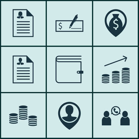list of successful candidates: Set Of Management Icons On Money, Phone Conference And Money Navigation Topics. Editable Vector Illustration. Includes Call, Career, Stacked And More Vector Icons.