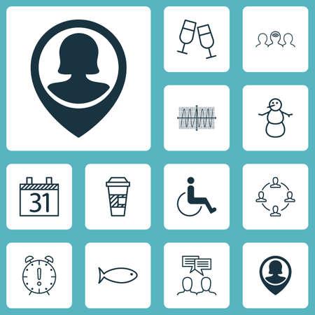 Ensemble de 12 icônes modifiables universelles. Peut être utilisé pour le Web, Mobile et App Design. Comprend des icônes telles que la collaboration, la discussion, le coaching, etc.