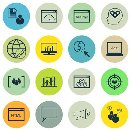 comprehensive: Set Of Marketing Icons On Conference, Website And Market Research Topics. Editable Vector Illustration. Includes Analytics, Brief, Comprehensive And More Vector Icons.