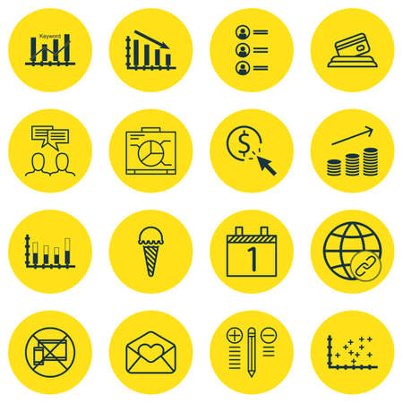 segmented: Set Of 16 Universal Editable Icons. Can Be Used For Web, Mobile And App Design. Includes Icons Such As Segmented Bar Graph, Agenda, Job Applicants And More.