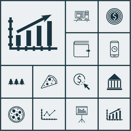 smart goals: Set Of 12 Universal Editable Icons. Can Be Used For Web, Mobile And App Design. Includes Icons Such As Computer, Profit Graph, Call Duration And More. Illustration