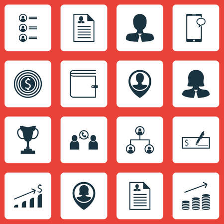 profit celebration: Set Of Human Resources Icons On Female Application, Coins Growth And Bank Payment Topics. Editable Vector Illustration. Includes Increase, Resume, Career And More Vector Icons.