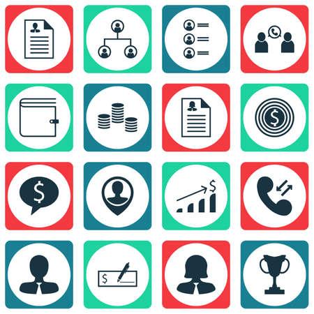 roaming: Set Of Human Resources Icons On Manager, Business Deal And Job Applicants Topics. Editable Vector Illustration. Includes Check, Female, Growth And More Vector Icons.