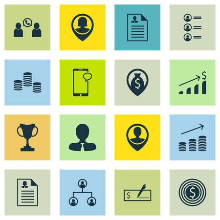 Ensemble d'icônes de ressources humaines sur Curriculum Vitae, candidats à l'emploi et des sujets de croissance de pièces de monnaie. Illustration vectorielle modifiable. Comprend des pièces de monnaie, employé, chat et plus d'icônes vectorielles.