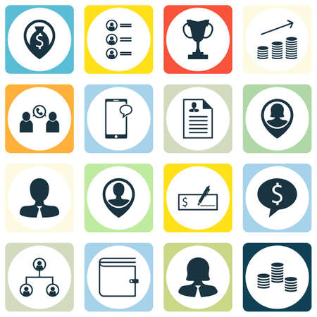 applicant: Set Of Hr Icons On Money Navigation, Tree Structure And Curriculum Vitae Topics. Editable Vector Illustration. Includes Employee, Organisation, Career And More Vector Icons.