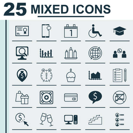 application recycle: Set Of 25 Universal Editable Icons. Can Be Used For Web, Mobile And App Design. Includes Icons Such As PPC, Laptop, Raise Diagram And More. Illustration