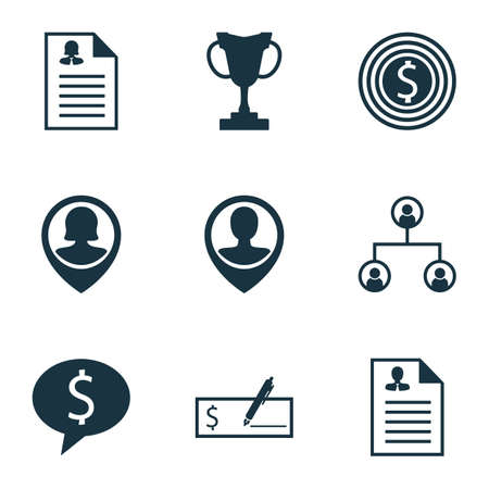 list of successful candidates: Set Of Management Icons On Business Deal, Pin Employee And Bank Payment Topics. Editable Vector Illustration. Includes Application, Structure, Bank And More Vector Icons. Illustration