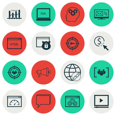 briefing: Set Of Marketing Icons On Loading Speed, Connectivity And Website Performance Topics. Editable Vector Illustration. Includes Ranking, Page, Advertising And More Vector Icons. Illustration