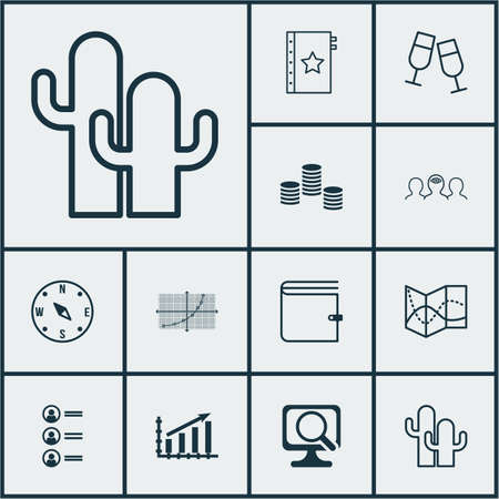 Set Of 12 Universal Editable Icons. Can Be Used For Web, Mobile And App Design. Includes Icons Such As Money, Line Grid, Profit Graph And More.
