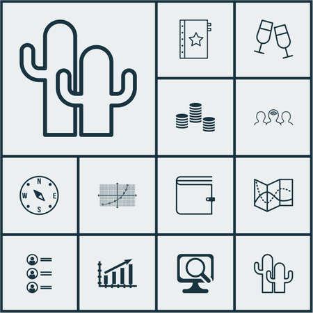 Ensemble de 12 icônes modifiables universelles. Peut être utilisé pour le Web, Mobile et App Design. Comprend des icônes telles que de l'argent, une grille de lignes, un graphique de profit, etc.