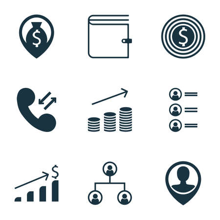 ability to speak: Set Of Human Resources Icons On Successful Investment, Business Goal And Job Applicants Topics. Editable Vector Illustration. Includes Growth, Cellular, Cash And More Vector Icons. Illustration