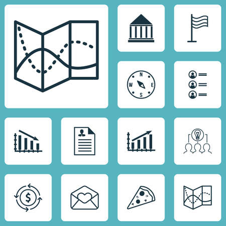 collaborative: Set Of 12 Universal Editable Icons. Can Be Used For Web, Mobile And App Design. Includes Icons Such As Greeting Email, Job Applicants, Collaborative Solution And More. Illustration