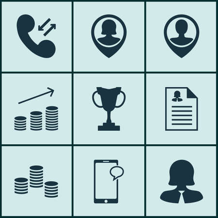 cellular: Set Of Management Icons On Business Woman, Cellular Data And Tournament Topics. Editable Vector Illustration. Includes Stacked, Resume, Cellular And More Vector Icons.
