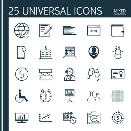infirm: Set Of 25 Universal Editable Icons. Can Be Used For Web, Mobile And App Design. Includes Icons Such As Appointment, Connectivity, Presentation And More. Illustration
