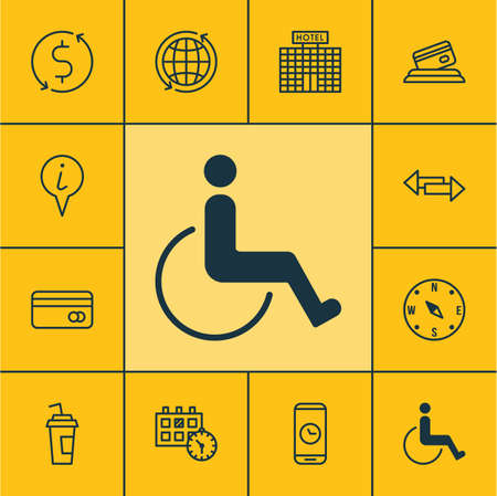crossroad: Set Of Transportation Icons On Call Duration, Crossroad And Appointment Topics. Editable Vector Illustration. Includes Exchange, Payment, Paralyzed And More Vector Icons.
