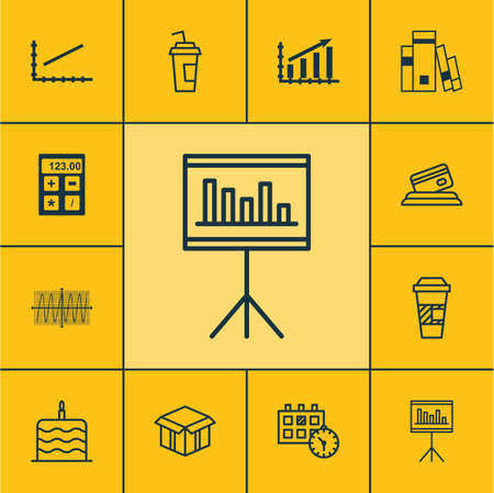 cosinus: Set Of 12 Universal Editable Icons. Can Be Used For Web, Mobile And App Design. Includes Icons Such As Presentation, Cosinus Diagram, Appointment And More.