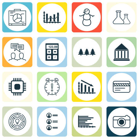 down town: Set Of 16 Universal Editable Icons. Can Be Used For Web, Mobile And App Design. Includes Icons Such As Bars Chart, Bank Card, Education Center And More.