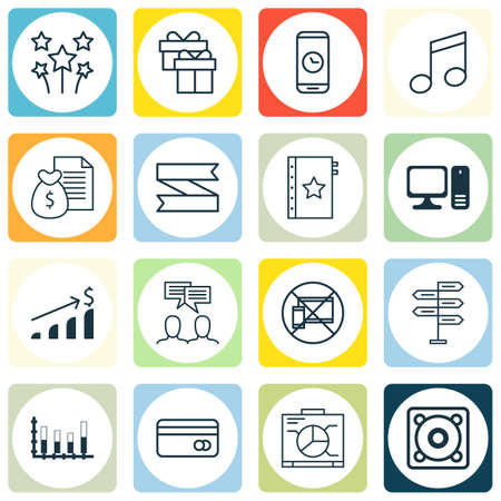 crotchets: Set Of 16 Universal Editable Icons. Can Be Used For Web, Mobile And App Design. Includes Icons Such As Warranty, Blank Ribbon, Crotchets And More.