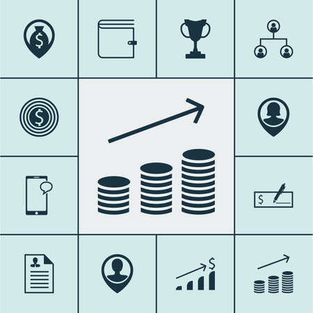 list of successful candidates: Set Of Human Resources Icons On Money Navigation, Curriculum Vitae And Business Goal Topics. Editable Vector Illustration. Includes Check, Pin, Increase And More Vector Icons. Illustration
