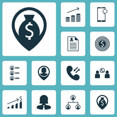 list of successful candidates: Set Of Hr Icons On Phone Conference, Coins Growth And Job Applicants Topics. Editable Vector Illustration. Includes Coins, Cash, Call And More Vector Icons. Illustration