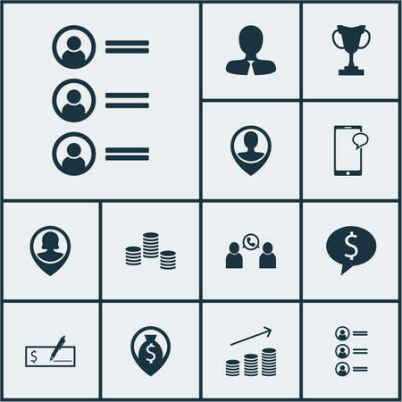 ability to speak: Set Of Management Icons On Messaging, Phone Conference And Manager Topics. Editable Vector Illustration. Includes Job, Profile, Mobile And More Vector Icons.