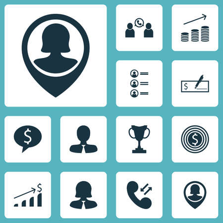 applicant: Set Of Human Resources Icons On Business Deal, Coins Growth And Phone Conference Topics. Editable Vector Illustration. Includes Cellular, Growth, Conference And More Vector Icons. Illustration