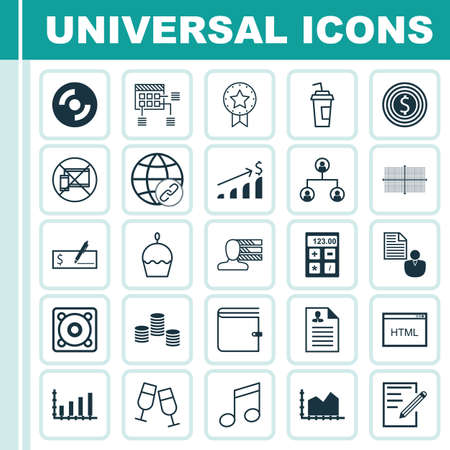 debt collection: Set Of 25 Universal Editable Icons. Can Be Used For Web, Mobile And App Design. Includes Elements Such As Personal Skills, Bank Payment, Paper And More.