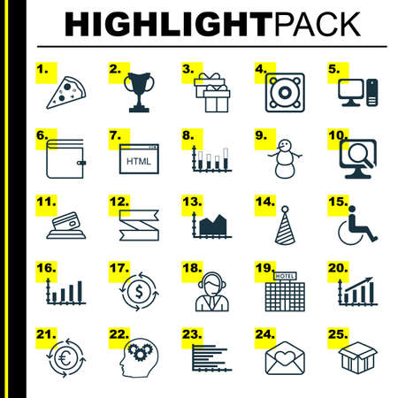 application recycle: Set Of 25 Universal Editable Icons. Can Be Used For Web, Mobile And App Design. Includes Elements Such As Money Recycle, Bars Chart, Birthday Hat And More.