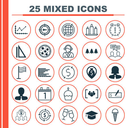 frozen food: Set Of 25 Universal Editable Icons. Can Be Used For Web, Mobile And App Design. Includes Elements Such As Money Recycle, Frozen Food, Graduation And More. Illustration
