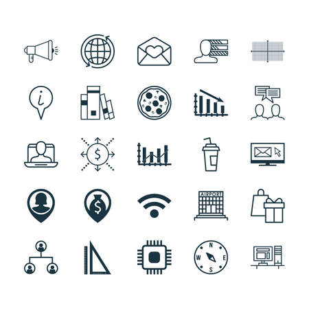 sociedade: Set Of 25 Universal Editable Icons. Can Be Used For Web, Mobile And App Design. Includes Elements Such As Personal Skills, World, Greeting Email And More. Ilustração