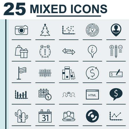 Ensemble de 25 icônes modifiables universelles. Peut être utilisé pour la conception Web, Mobile et App. Inclut des éléments tels que l'emplacement des employés, le coaching, le profil social, etc.