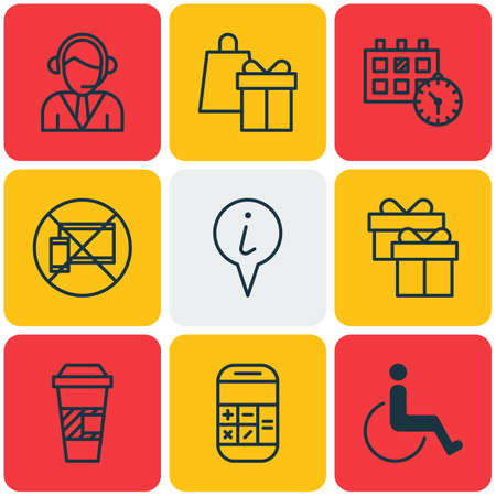 paralyzed: Set Of 9 Traveling Icons. Can Be Used For Web, Mobile, UI And Infographic Design. Includes Elements Such As Paralyzed, Disabled, Takeaway And More.