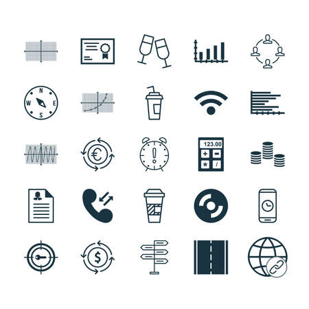 application recycle: Set Of 25 Universal Editable Icons. Can Be Used For Web, Mobile And App Design. Includes Elements Such As Currency Recycle, Champagne Glasses, Female Application And More.