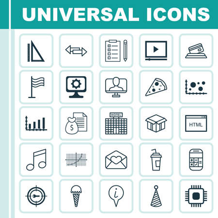 hotel reviews: Set Of 25 Universal Editable Icons. Can Be Used For Web, Mobile And App Design. Includes Elements Such As Reminder, Chip, Credit Card And More.