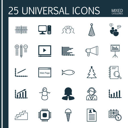 frozen food: Set Of 25 Universal Editable Icons. Can Be Used For Web, Mobile And App Design. Includes Elements Such As Frozen Food, Growth, Announcement And More. Illustration
