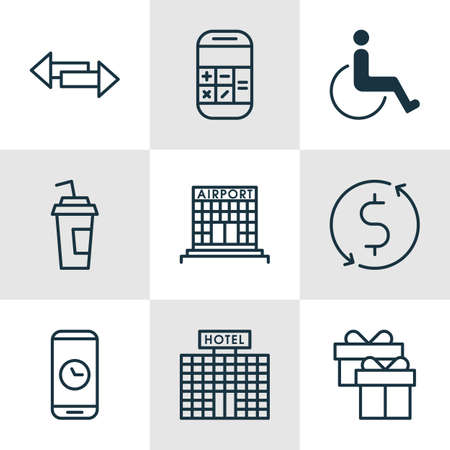 paralyzed: Set Of 9 Transportation Icons. Can Be Used For Web, Mobile, UI And Infographic Design. Includes Elements Such As Paralyzed, Accessibility, Box And More.