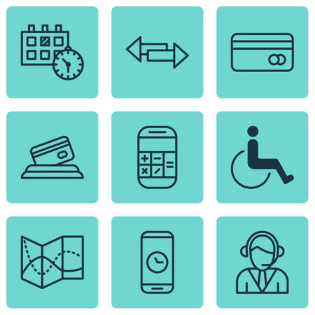 paralyzed: Set Of 9 Traveling Icons. Can Be Used For Web, Mobile, UI And Infographic Design. Includes Elements Such As Payment, Disabled, Paralyzed And More.