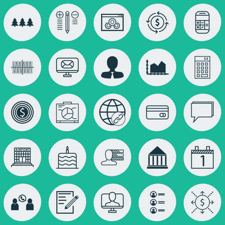 Set Of 25 Universal Editable Icons. Can Be Used For Web, Mobile And App Design. Includes Elements Such As Education Center, Paper, Conference And More.