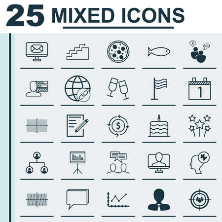agenda browse: Set Of 25 Universal Editable Icons. Can Be Used For Web, Mobile And App Design. Includes Elements Such As Paper, Fishing, Money Recycle And More. Illustration