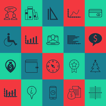 accessibility: Set Of 20 Universal Editable Icons. Can Be Used For Web, Mobile And App Design. Includes Elements Such As Dialogue, Accessibility, Library And More. Illustration
