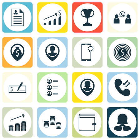 conference call: Set Of 16 Human Resources Icons. Can Be Used For Web, Mobile, UI And Infographic Design. Includes Elements Such As Conference, Call, Profile And More.