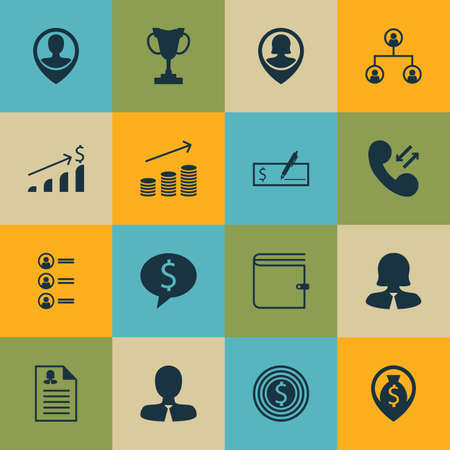 ability to speak: Set Of 16 Human Resources Icons. Can Be Used For Web, Mobile, UI And Infographic Design. Includes Elements Such As Call, List, Increase And More. Illustration