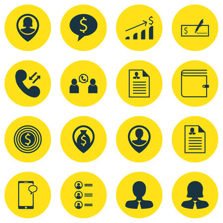 sms payment: Set Of 16 Management Icons. Can Be Used For Web, Mobile, UI And Infographic Design. Includes Elements Such As Bank, User, Discussion And More.