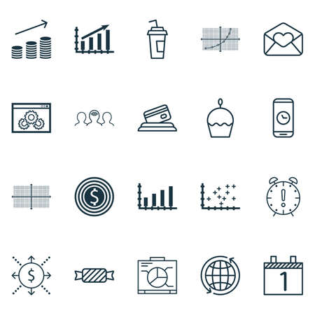 tax time: Set Of 20 Universal Editable Icons. Can Be Used For Web, Mobile And App Design. Includes Elements Such As Dynamics, Coaching, Business Goal And More.