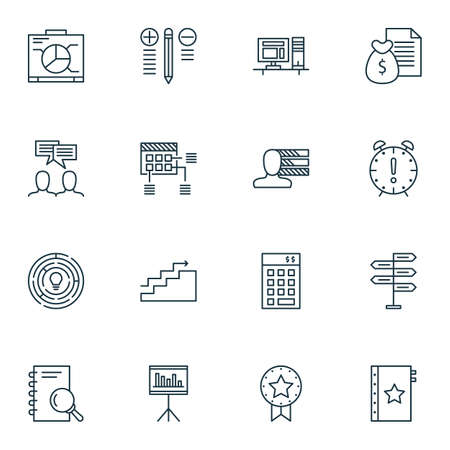 ability to speak: Set Of 16 Project Management Icons. Can Be Used For Web, Mobile, UI And Infographic Design. Includes Elements Such As Project, Revenue, Analysis And More.