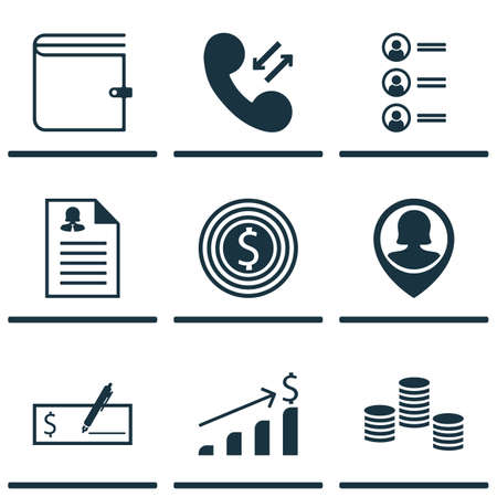 list of successful candidates: Set Of 9 Management Icons. Can Be Used For Web, Mobile, UI And Infographic Design. Includes Elements Such As Success, Wallet, Phone And More.